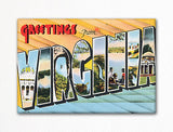 Greetings from Virginia Fridge Magnet