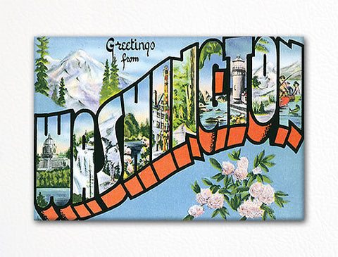 Greetings from Washington Fridge Magnet