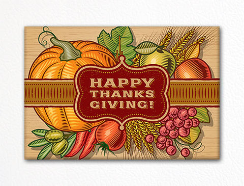 Happy Thanksgiving Fridge Magnet