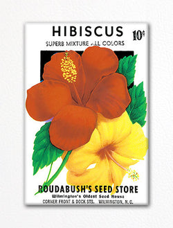 Hibiscus Seed Packet Artwork Fridge Magnet