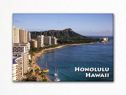 Honolulu Hawaii Souviner Photo Fridge Magnet