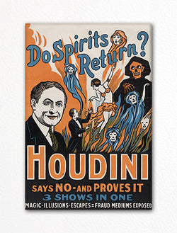 Houdini Spirits Show Poster Advertising Artwork Fridge Magnet
