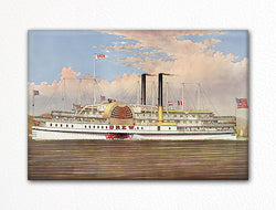 People's Line Hudson River Palace Steamer Fridge Magnet