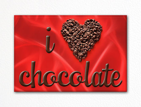 I Love Chocolate Fridge Magnet