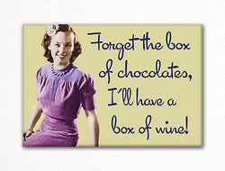 I'll Have a Box of Wine Funny Fridge Magnet