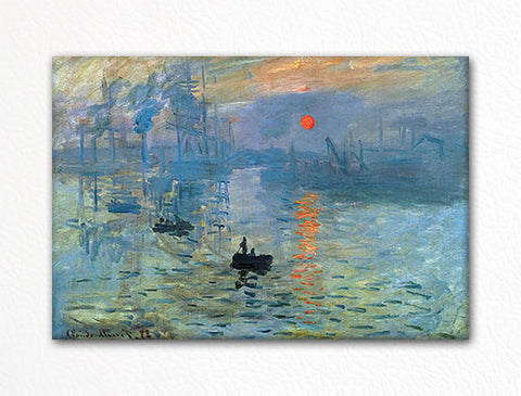 Impression Sunrise Claude Monet Painting Fridge Magnet