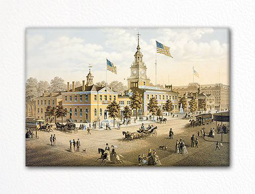 Independence Hall Theodore Poleni Fridge Magnet