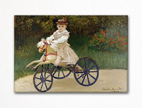 Jean Monet on his Hobby Horse Claude Monet Painting Fridge Magnet