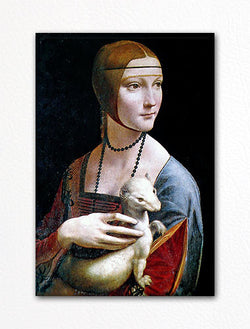 Lady with an Ermine Leonardo da Vinci Fridge Magnet