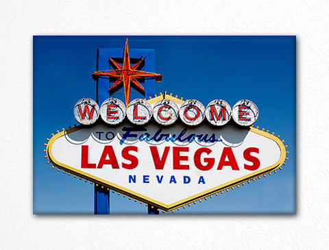 Welcome to Fabulous Las Vegas Nevada Sign Fridge Magnet
