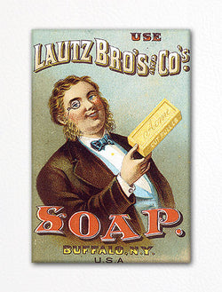Lautz Bro's and Co's Soap Advertisement Fridge Magnet