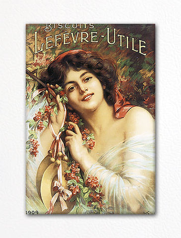 Lefevre Utile Biscuits Advertising Art Fridge Magnet
