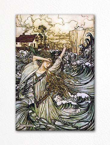 Lost in the Danube from Undine Arthur Rackham Illustration Fridge Magnet