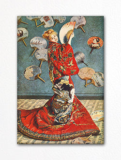 Madame Monet in a Japanese Costume Claude Monet Painting Fridge Magnet