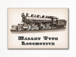Mallet Type Locomotive Fridge Magnet