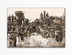 Meeting of the Rails Golden Spike Photo Fridge Magnet