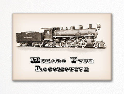 Mikado Type Locomotive Fridge Magnet