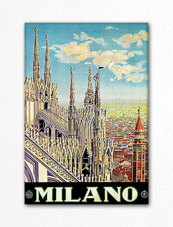 Milan Italy Advertisement Fridge Magnet