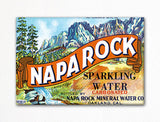 Napa Rock Mineral Water Label Art Fridge Magnet