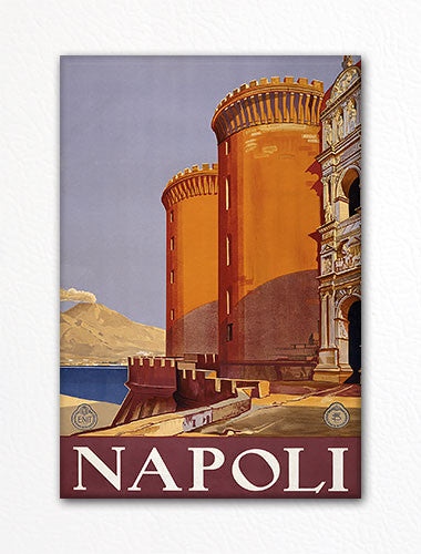 Naples Italy Napoli Advertising Poster Artwork Fridge Magnet