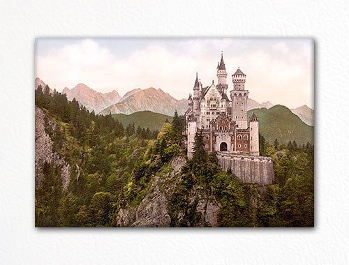 Neuschwanstein Castle Vintage Photograph Fridge Magnet