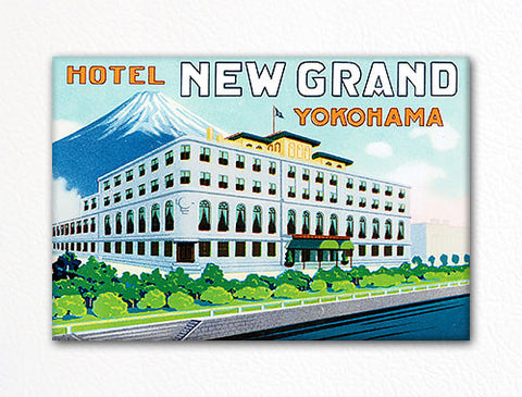 Hotel New Grand Yokohama Advertisement Fridge Magnet