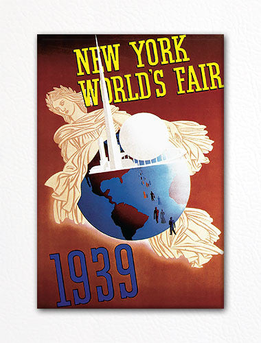 1939 New York Worlds Fair Vintage Advertising Poster Fridge Magnet