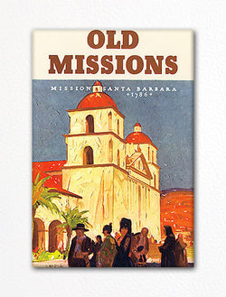 California Old Missions Advertisement Fridge Magnet