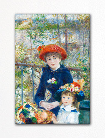 On the Terrace Renoir Painting Fridge Magnet