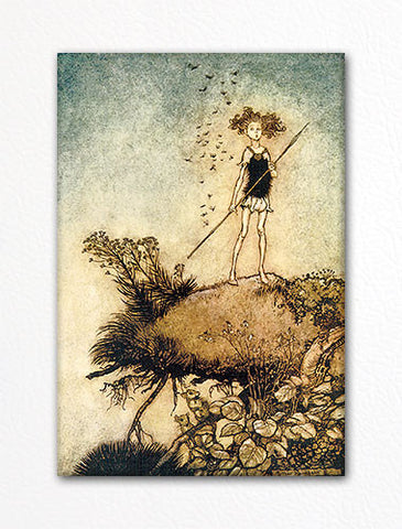 One Aloof Stand Sentinel Arthur Rackham Illustration Fridge Magnet
