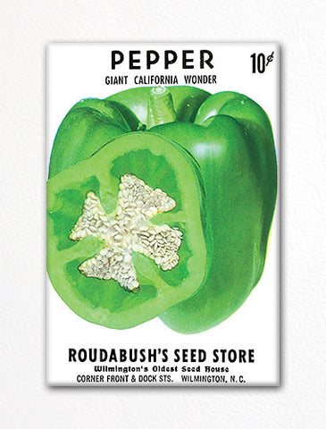 Pepper Seed Packet Artwork Fridge Magnet