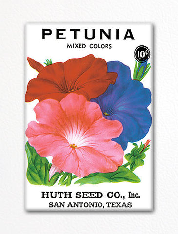 Petunia Seed Packet Artwork Fridge Magnet