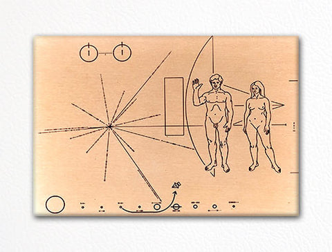 Plaque from Pioneer 10 and 11 Spacecraft Fridge Magnet