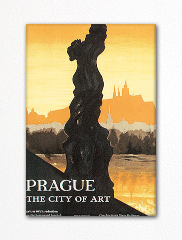 Prague City of Art Advertising Poster Artwork Fridge Magnet