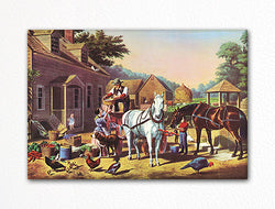 Preparing for Market Currier & Ives Fridge Magnet