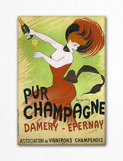 Damery Epernay Pur Champagne Advertising Art Fridge Magnet