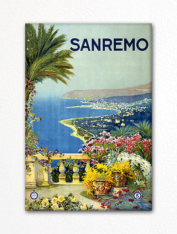 Sanremo Italy Advertising Poster Artwork Fridge Magnet