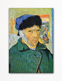 Self Portrait with Bandage Vincent van Gogh Fridge Magnet