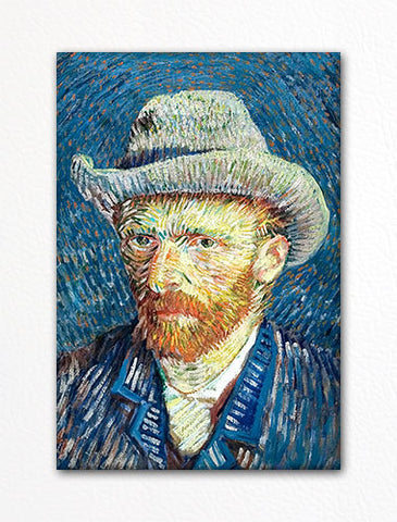 Self Portrait with Felt Hat Vincent van Gogh Fridge Magnet