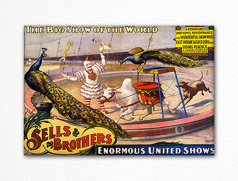 Sells Brothers Circus Advertising Poster Fridge Magnet