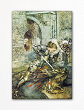 Sir Launcelot from The Romance of King Arthur Arthur Rackham Illustration Fridge Magnet