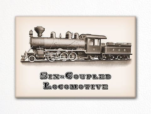 Six Coupled Locomotive Fridge Magnet