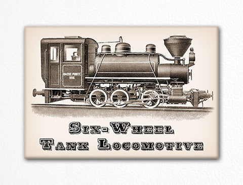 Six Wheel Tank Locomotive Fridge Magnet