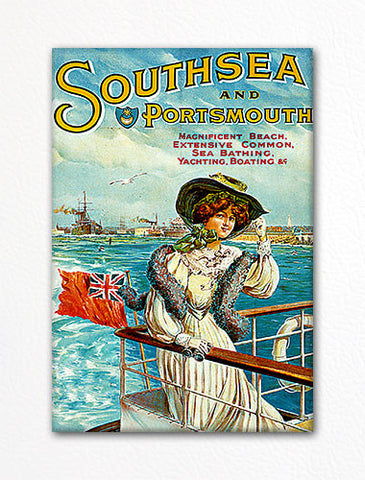 Southsea and Portsmouth Advertisement Fridge Magnet