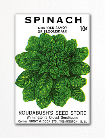 Spinach Seed Packet Artwork Fridge Magnet