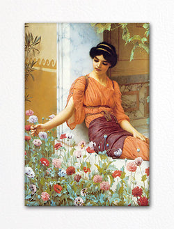 Summer Flowers John William Godward Fridge Magnet