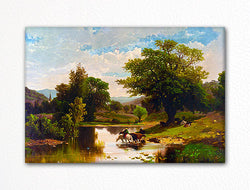 Summer Landscape Currier & Ives Fridge Magnet