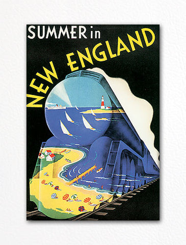 Summer in New England Advertisement Poster Fridge Magnet