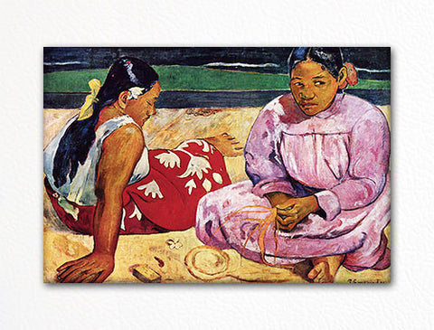 Tahitian Women on the Beach Paul Gauguin Fridge Magnet