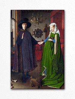 The Arnolfini Wedding Portrait Fridge Magnet